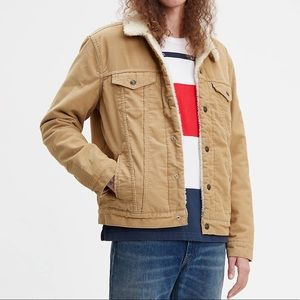 Levi's • Corduroy Sherpa Trucker Jacket